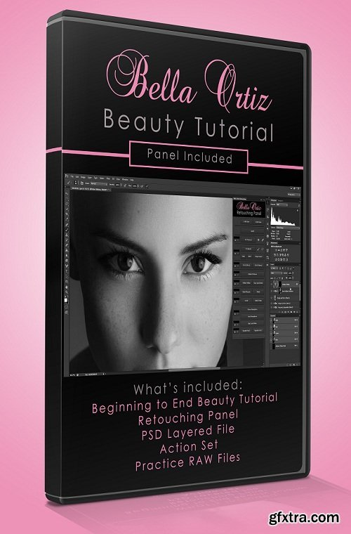Bella Ortiz Retouching Panel + Tutorials & Actions