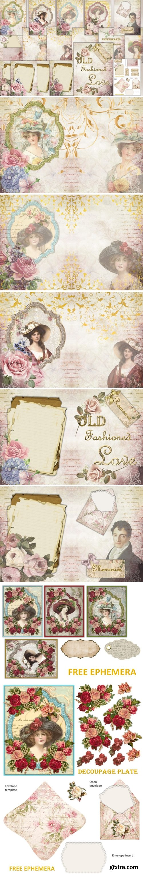 Victorian Backgrounds with Ephemera 1629675