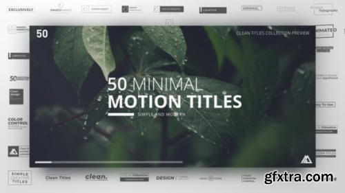 VideoHive Minimal Titles Collection 23272842