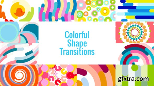 VideoHive Colorful Shape Transitions AE 23432459