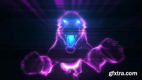 VideoHive Neon Glitch Logo 24314561