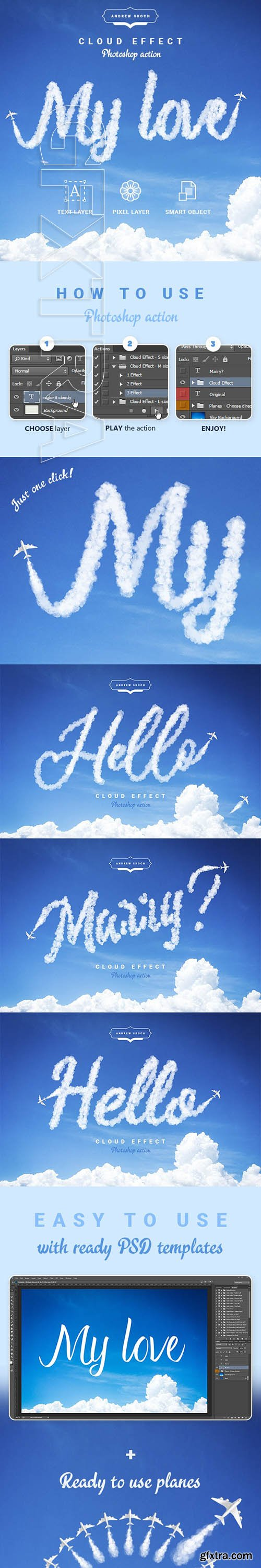 GraphicRiver - Cloud Text - Photoshop Action 24184126