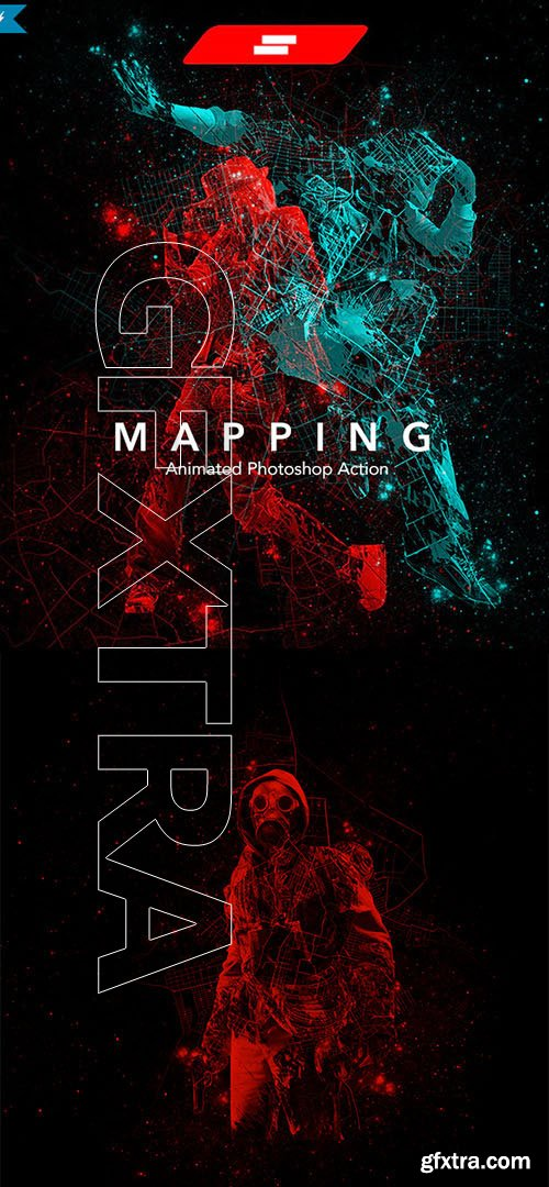 GraphicRiver - Gif Animated Mapping Photoshop Action 24223351