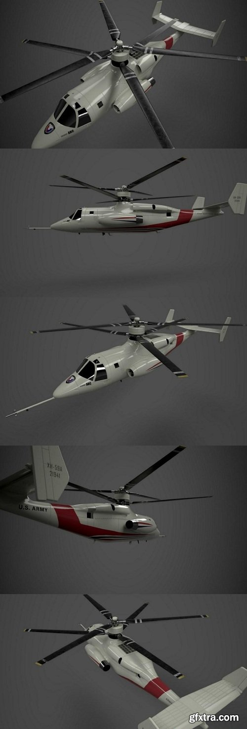 Sykorsky S-69 Concept Helicopter 3d Model
