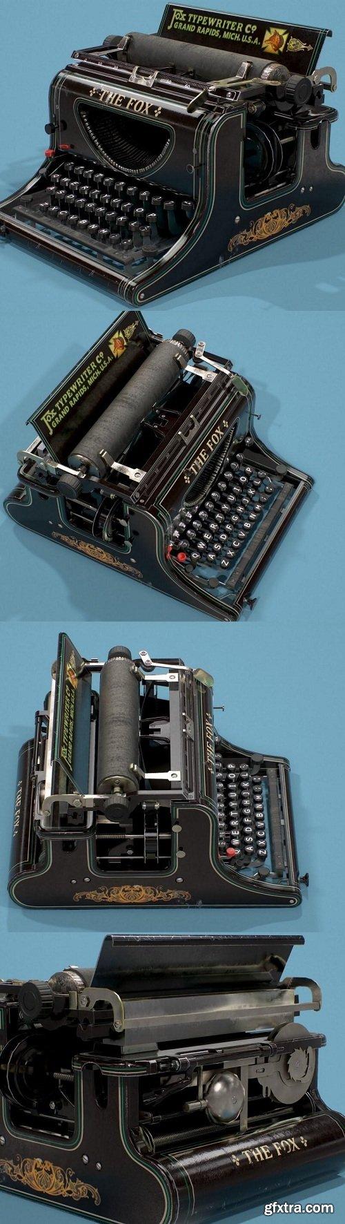 Typewriter Fox 3D Model