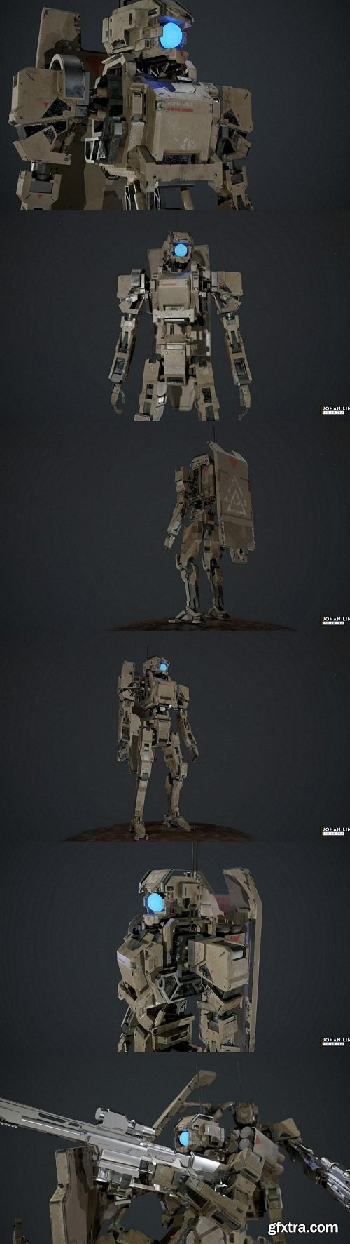 Mobile Armored Droid 3D Model