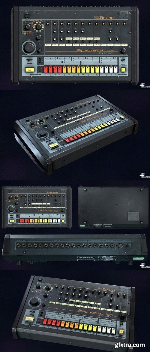 Roland TR-808 Rhythm Composer 3D Model