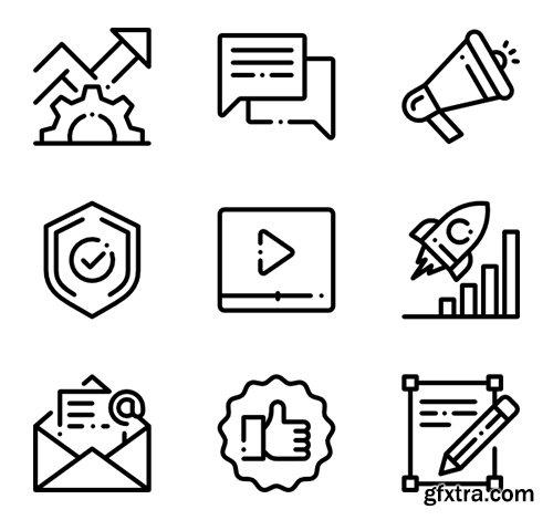 50 Marketing & SEO Icons