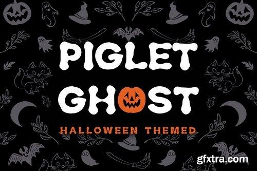 Piglet Ghost - Halloween Display Typeface