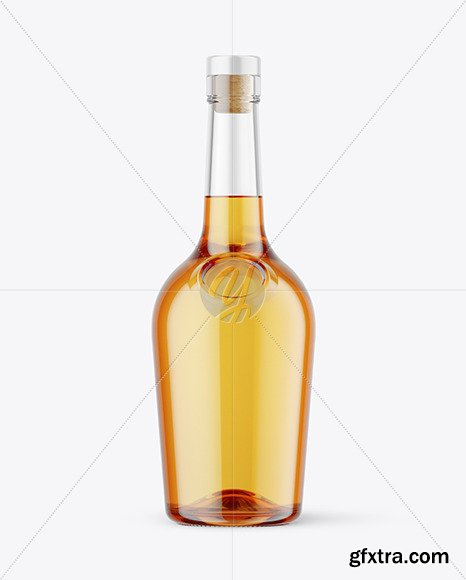 500ml Clear Glass Whiskey Bottle Mockup 47345