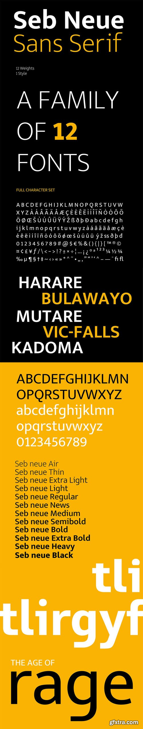 Seb Neue Sans Serif Font (12-Weights)