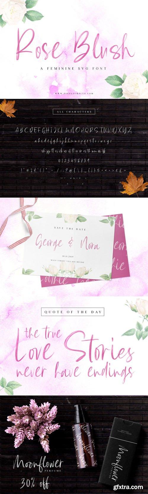 Rose Blush - A Feminine SVG Font