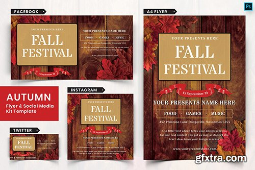 Autumn Festival Flyer & Social Media Pack-06