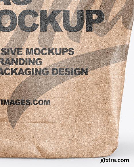Food Kraft Bag Mockup 47619
