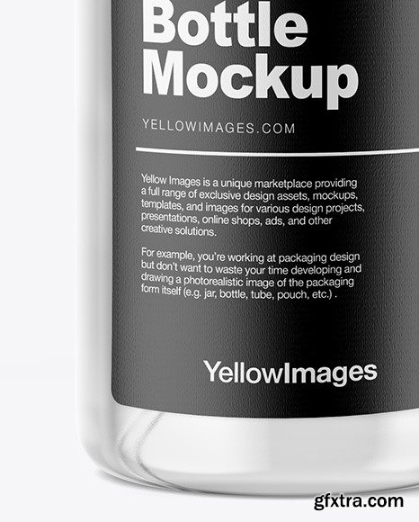 Clear Glass Spray Bottle Mockup 47615