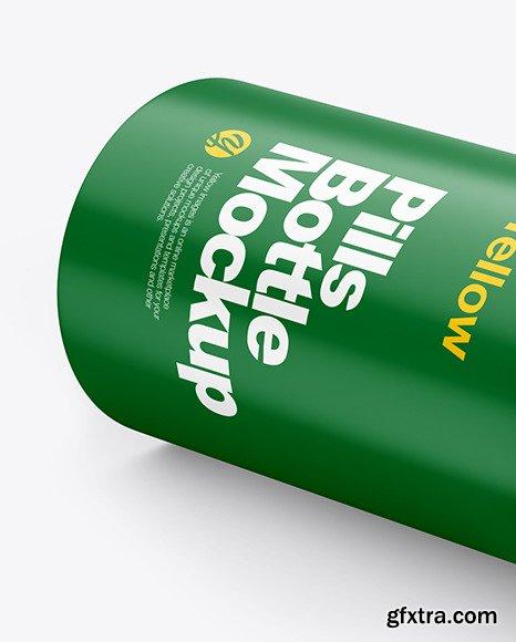 Matte Pills Bottle Mockup 47614