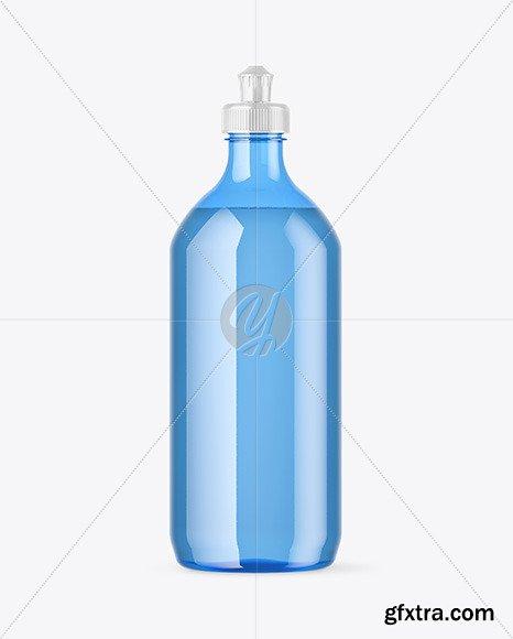 Blue Plastic Bottle with Squeeze Cap Mockup 47609