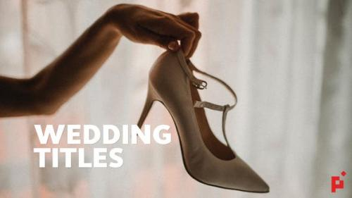 Videohive - 50 Wedding Titles | Essential Graphics | Mogrt - 23275877