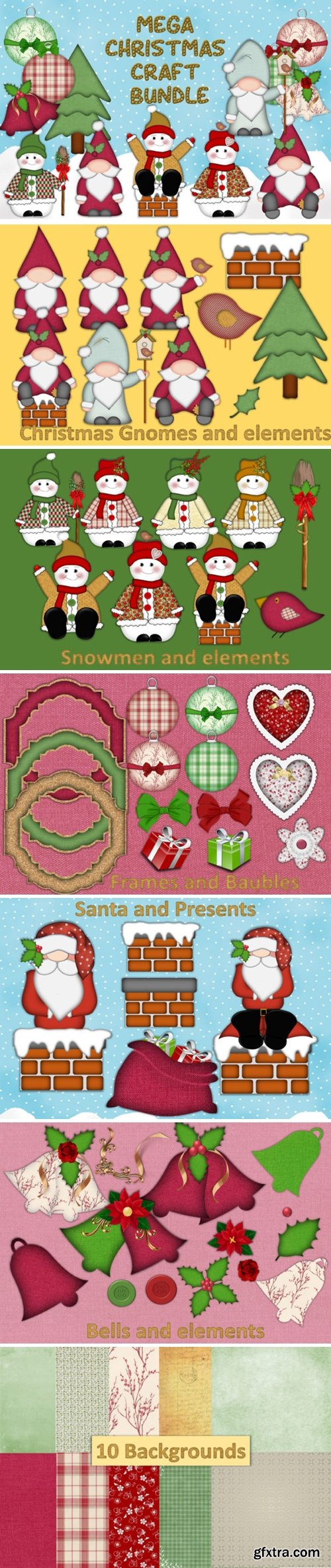 Christmas Clipart and Craft Bundle 1695959
