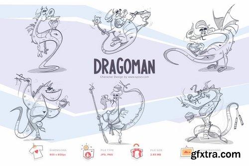 Dragoman Transparent PNG illustrations