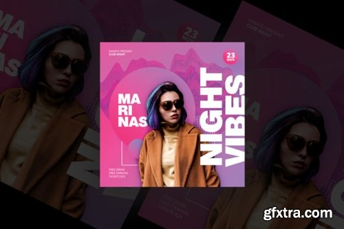 Night Vibes Party Flyer