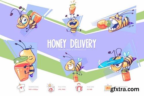 Honey Delivery Transparent PNG illustrations