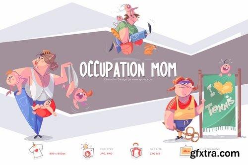 Occupation Mom Transparent PNG illustrations