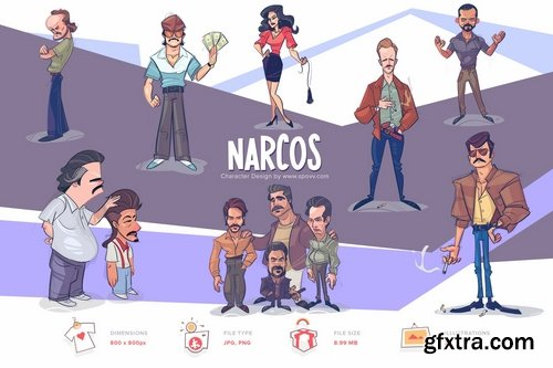 Narcos Transparent PNG illustrations