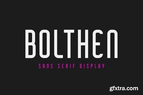 Bolthen - Sans Serif Display Typeface