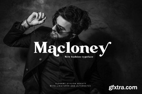 Macloney - Bold Serif Font