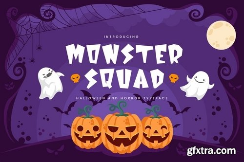 Monster Squad - Fun Halloween Typeface