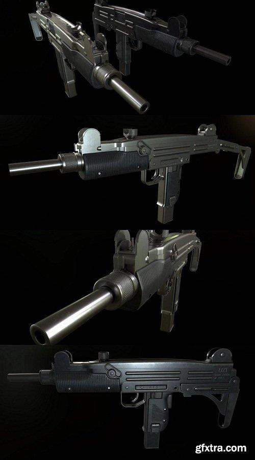 SMG UZI 3D Model