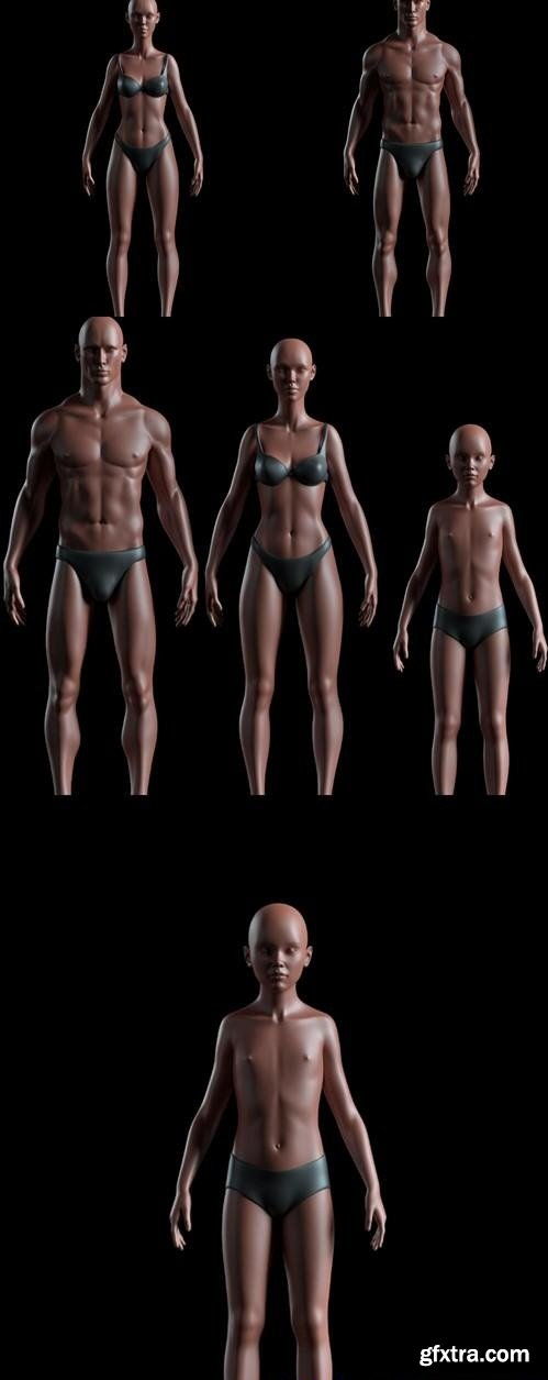 Realistic People Basemesh Preview