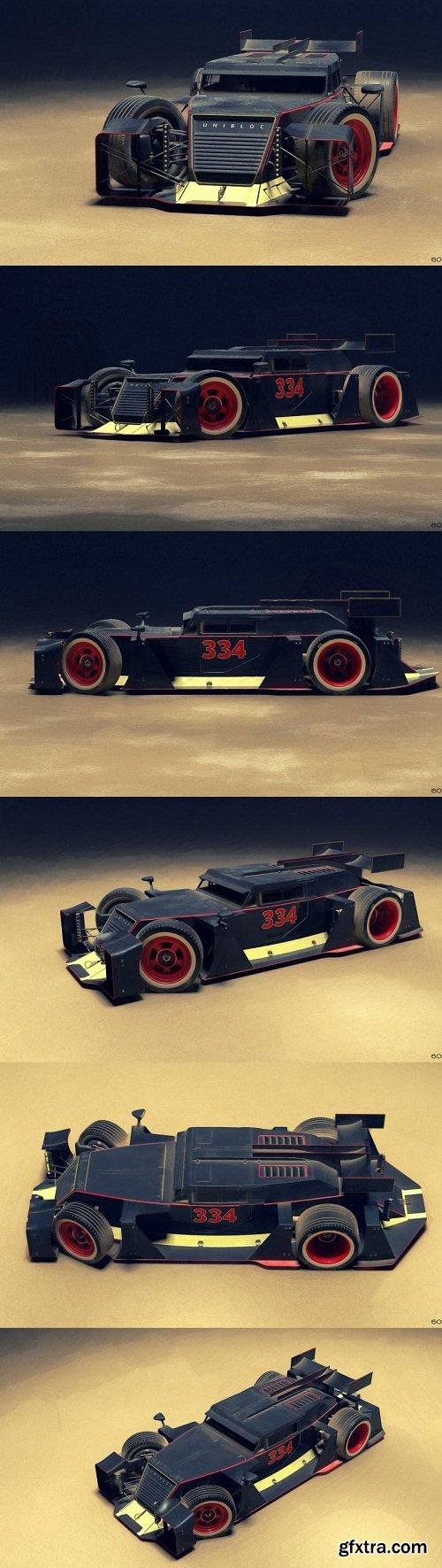 Unibloc Rat Racer Concept Vehicle 3D Model