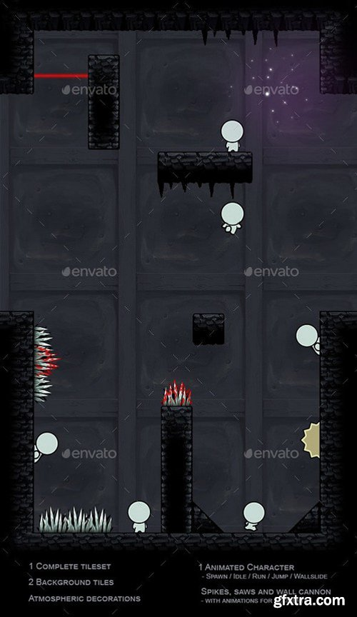 Graphicriver - 10356371 Platformer Game Assets Starter Pack Dungeon