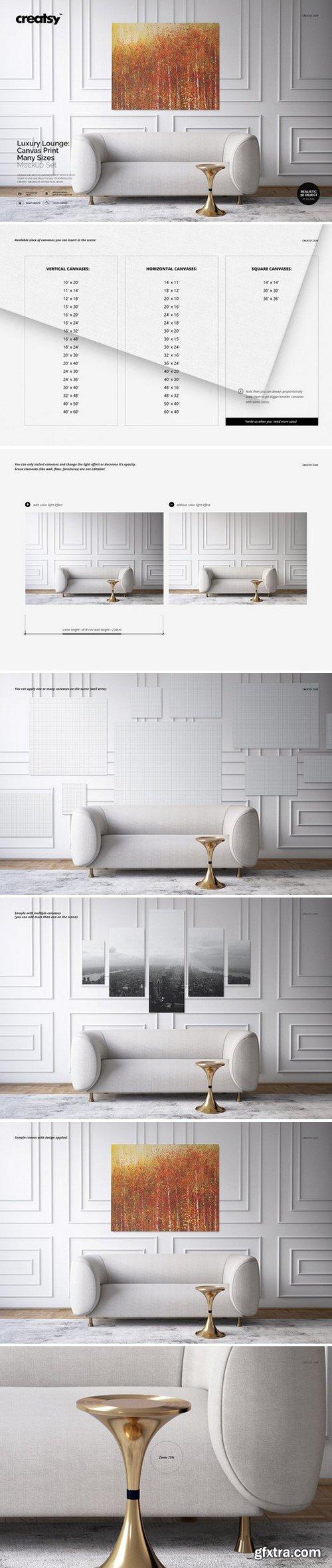 CM - Luxury Lounge Canvas Print Mockup 2810826