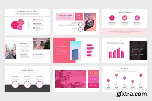 Famoa Pink Color Tone Pitch Deck Google Slides