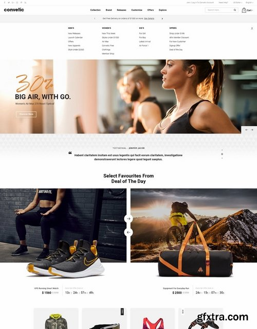 Convetic - Sport, Gym PSD Template