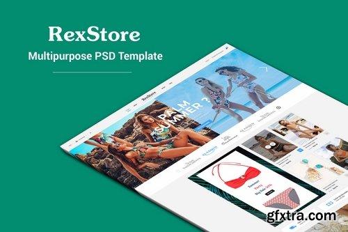 RexStore - Multipurpose Fashion PSD Template