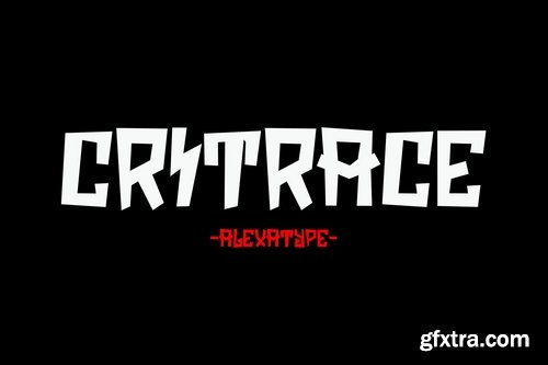 Critrace - Energetic Display Font