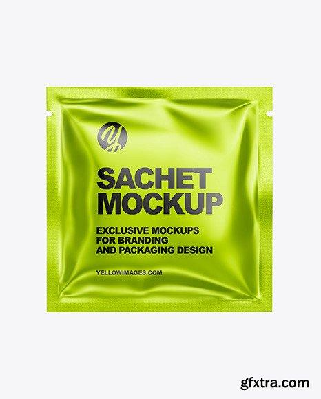 Metallic Sachet Mockup 47561