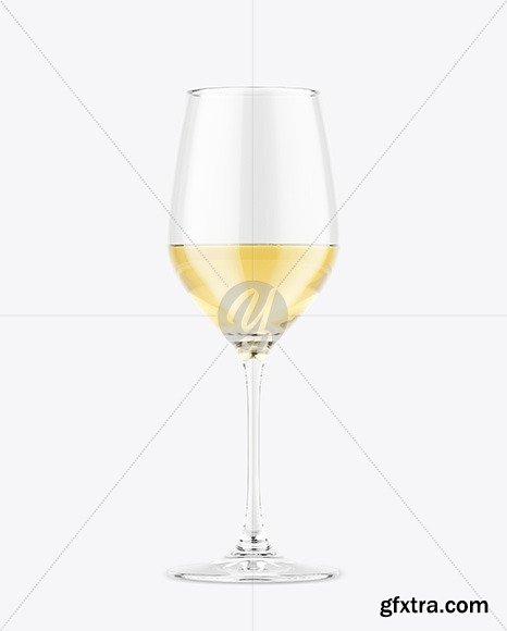 Glass w/ White Wine Mockup Mockup 47598