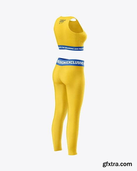Women\'s Fitness Kit Mockup - Back Half Side 47595