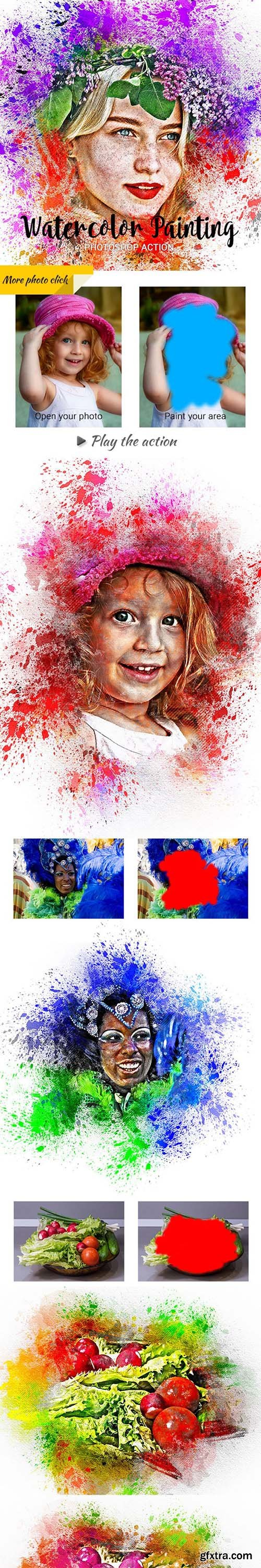 GraphicRiver - Watercolor Painting Photoshop Action 24202737