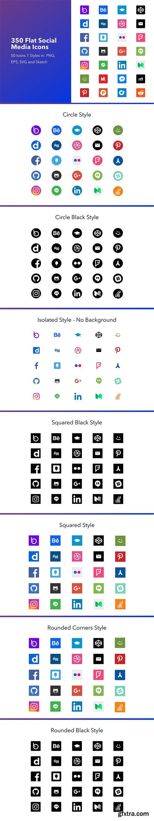Social Media & Web Icons