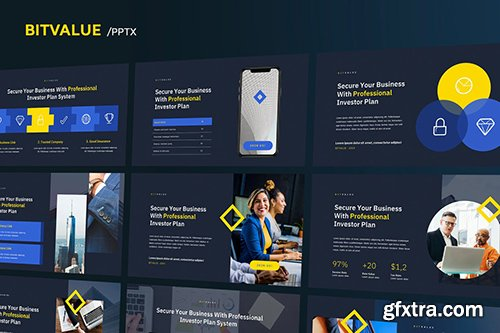 BitValue - Corporate Powerpoint, Keynote and Google Slides Templates
