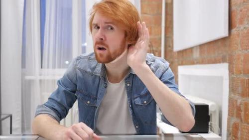 Udemy - Redhead Beard Man Listening Secret, Indoor