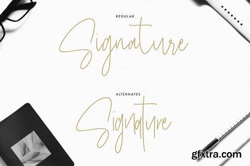 Masstro Signature Typeface