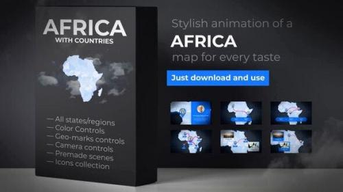 Udemy - Africa Animated Map - Africa Map Kit