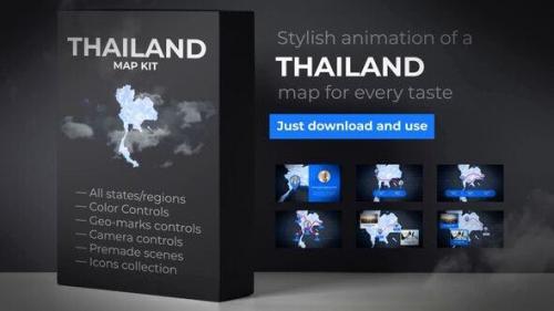 Udemy - Thailand Animated Map - Kingdom of Thailand Map Kit